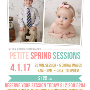 Petite Spring Sessions | www.meganmyrickphotography.com